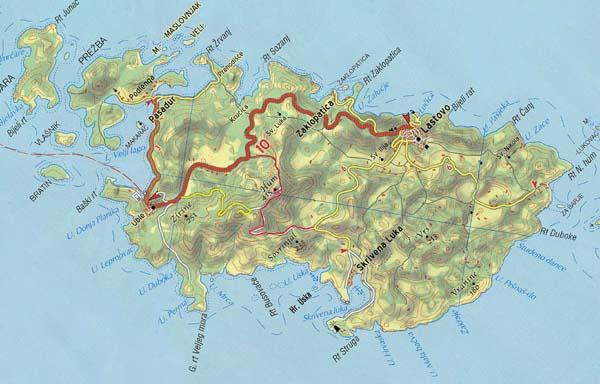 küste dalmatien karte