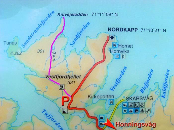 trollstigen norwegen karte