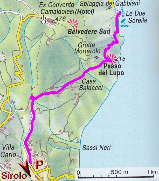 Italien Obere Adria Karte.Conero Monte Due Sorelle Adriakuste Marken Italien