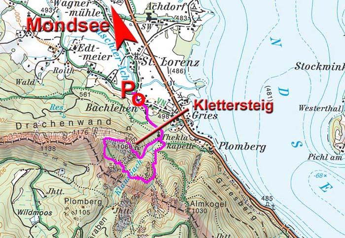Klettersteig Map : Drachenwand klettersteig c d salzkammergutberge