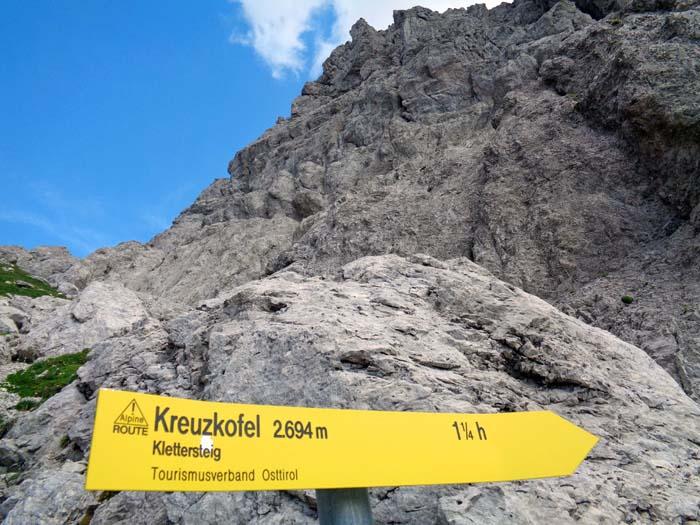Klettersteig Verborgene Welt : Kreuzkofel gailtaler alpen lienzer dolomiten