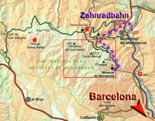 Carte Barcelone Montserrat.Miranda De Sant Jeroni Montserrat Spanien Videoclip