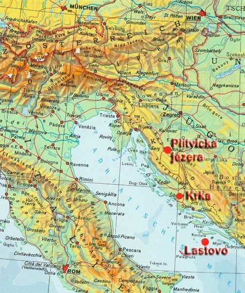 Nationalpark Plitvicer Seen Karte.Karte Plitvicer Seen Karte