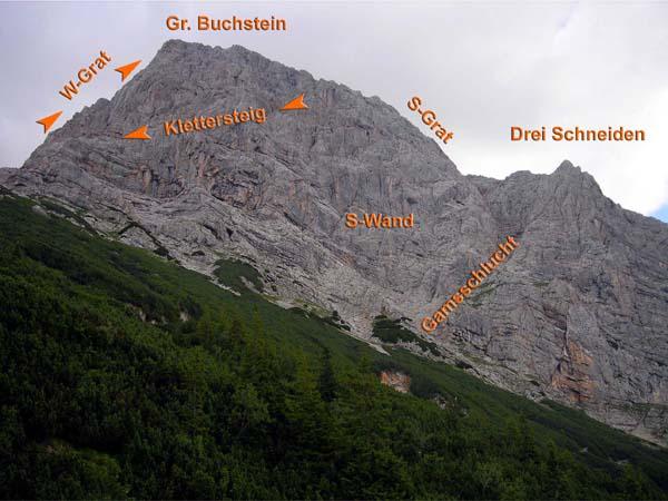Klettersteig Buchstein : Buchstein gr w grat gesäuse
