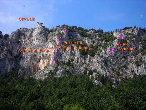 Hohe Wand Klettersteig : Einfache klettersteige auf der hohen wand juni